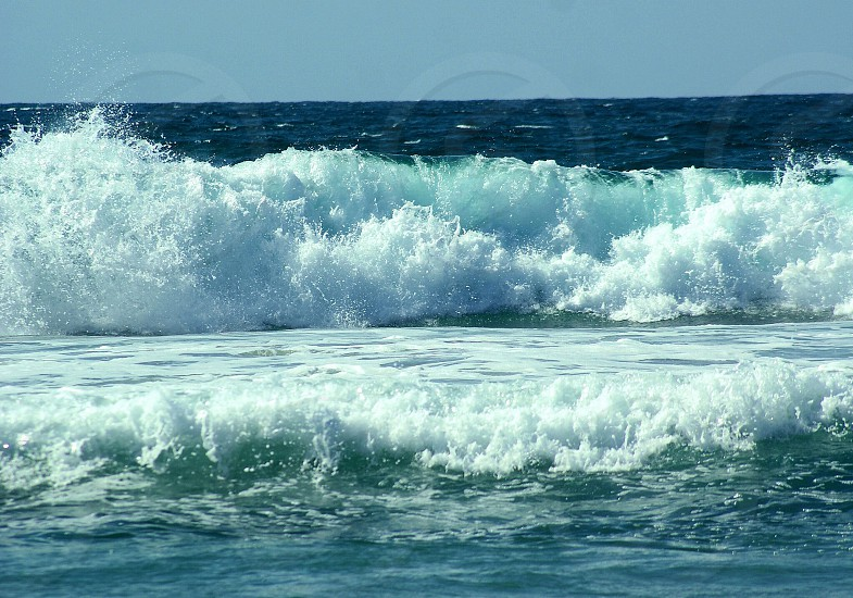 Tropical ocean waves photo