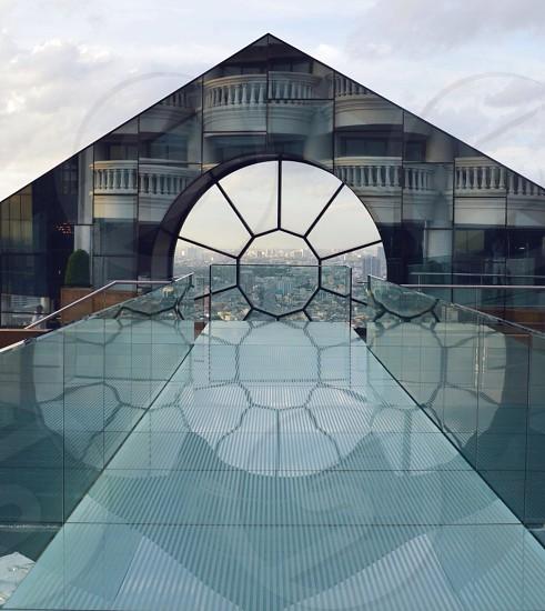 clear glass bridge photo