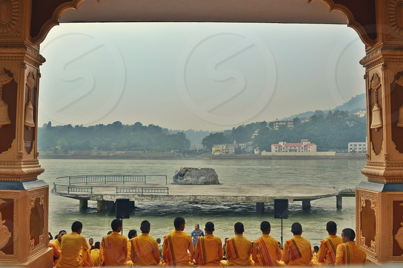 The FUJA ceremony in Rishikesh India. photo