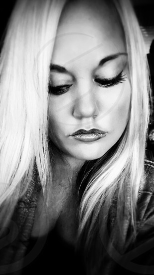 Girl  Woman Black and White photo