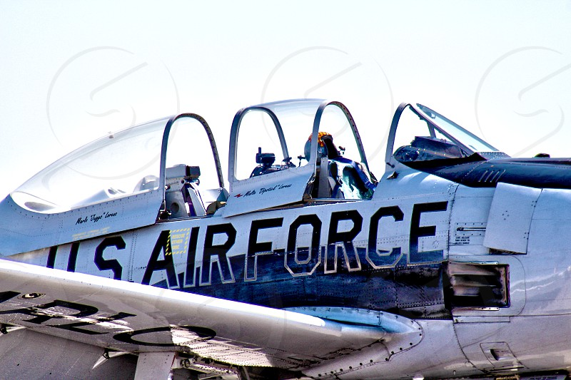 T4 Air Force airplane. photo