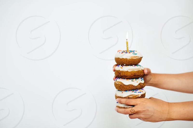 Birthday donuts  photo