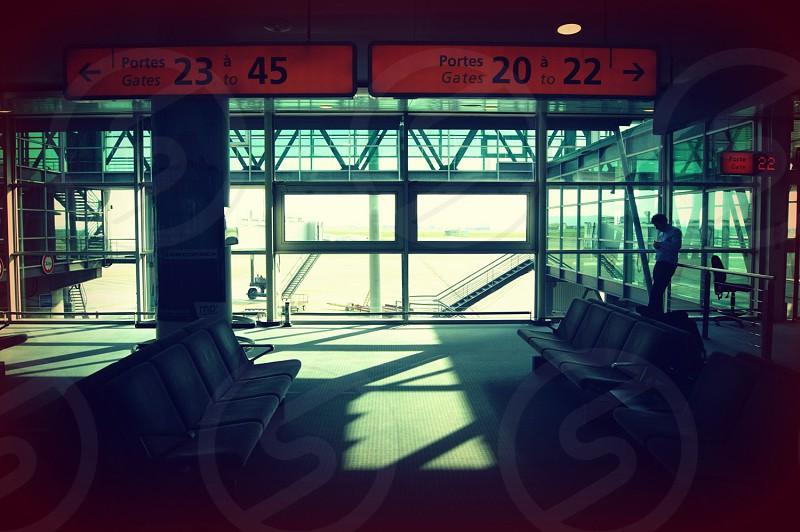airport departure area photo