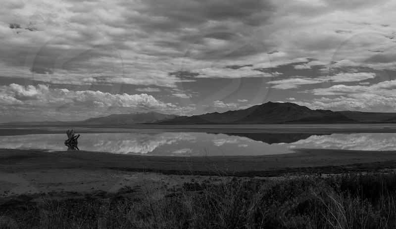 The great salt lake landscape photo