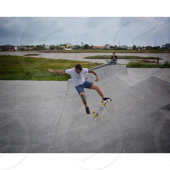 Matt the Hat transition kick-flip  photo