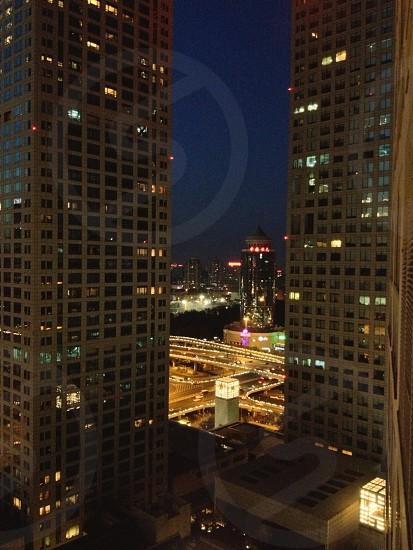 city view at night photo