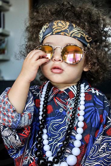 Hippie toddler  photo