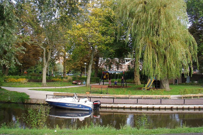 Boat in a park photo