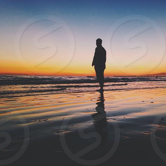 man silhouette view photo