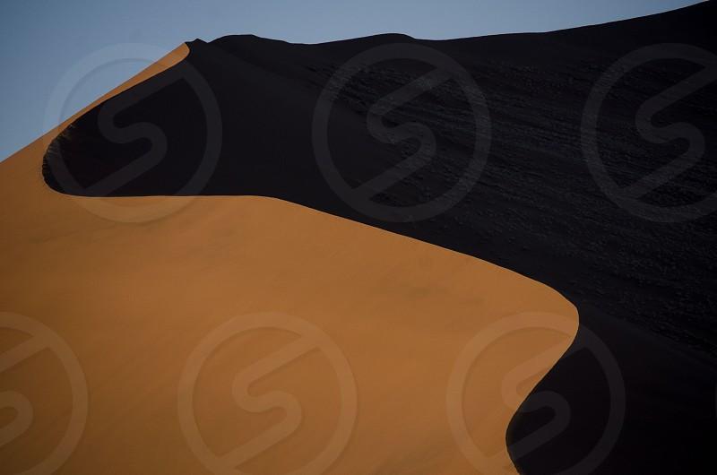 """Dune"" Massive red sand dune at sunrise Namibia June 2014. photo"