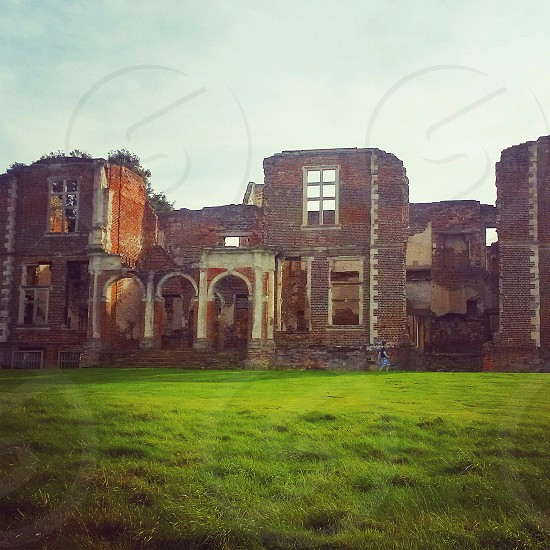 Historical ruin of Houghton house Ampthill Bedfordshire photo