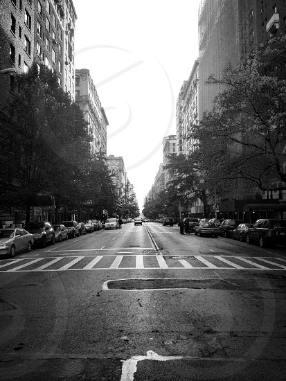 gray concrete road panoramic view photo