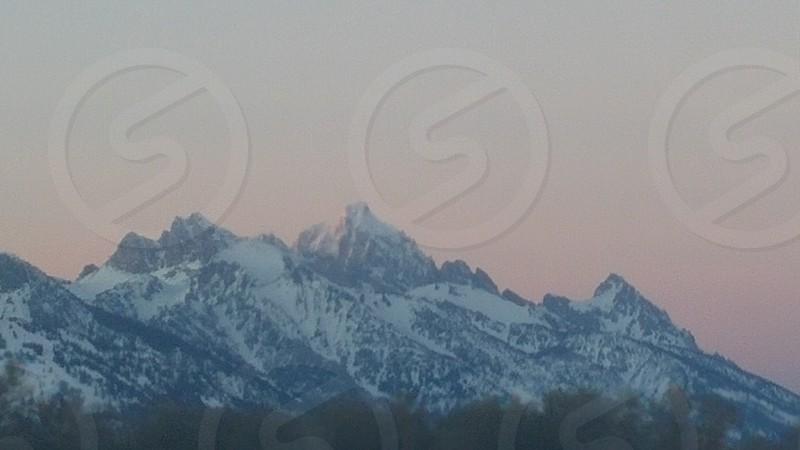 Grand Teton sunset. photo