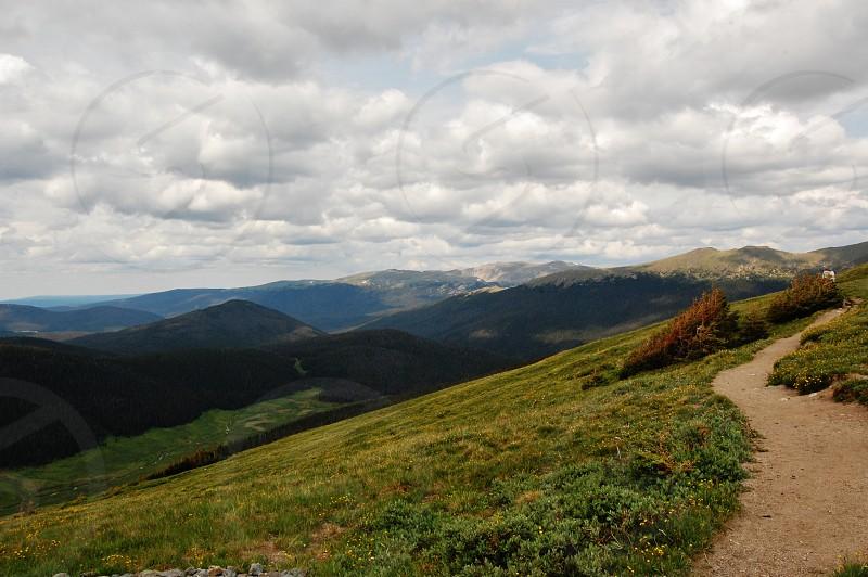 Hiking Paths Trails Mountains Clouds Colorado Peace Serene Beauty Peaceful photo