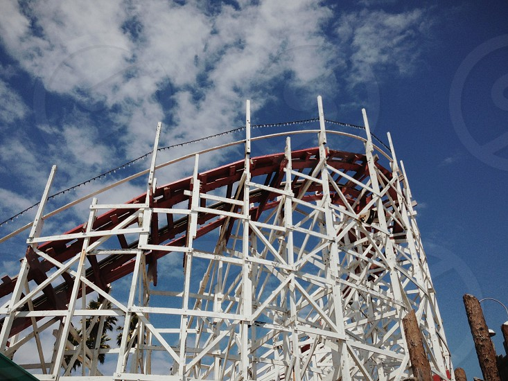 wood roller coaster photo