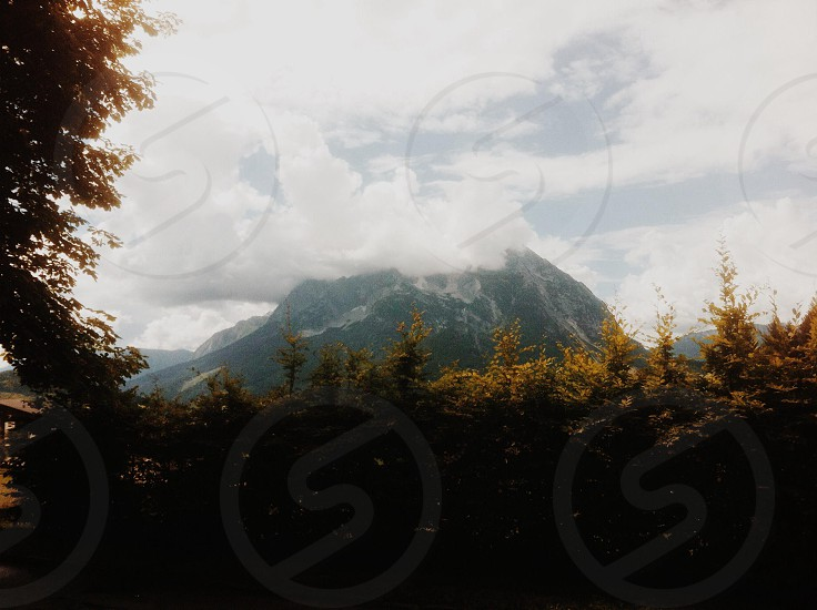 mountain clouds nature photo