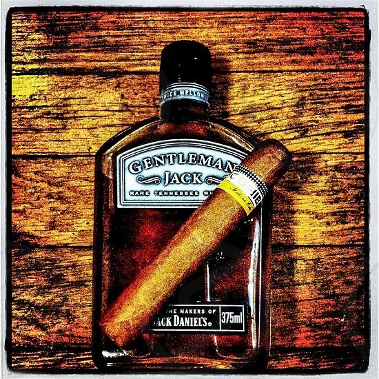 Jack Daniels and Cohiba photo