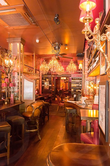 The grand interior of the Left Bank pub/restaurant in Kilkenny Ireland.  Additional interior and exterior shots available. photo