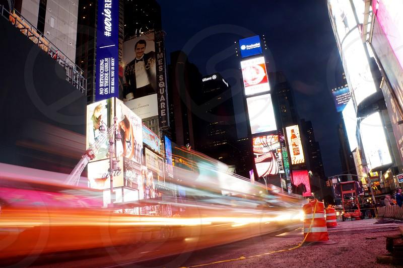 tall billboard and lights photo