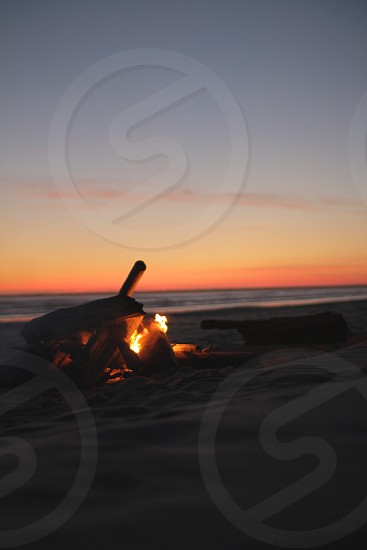 Fire on the beach  photo
