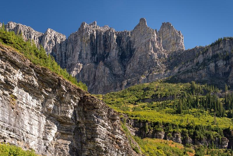 Scenic View of Glacier National Park photo