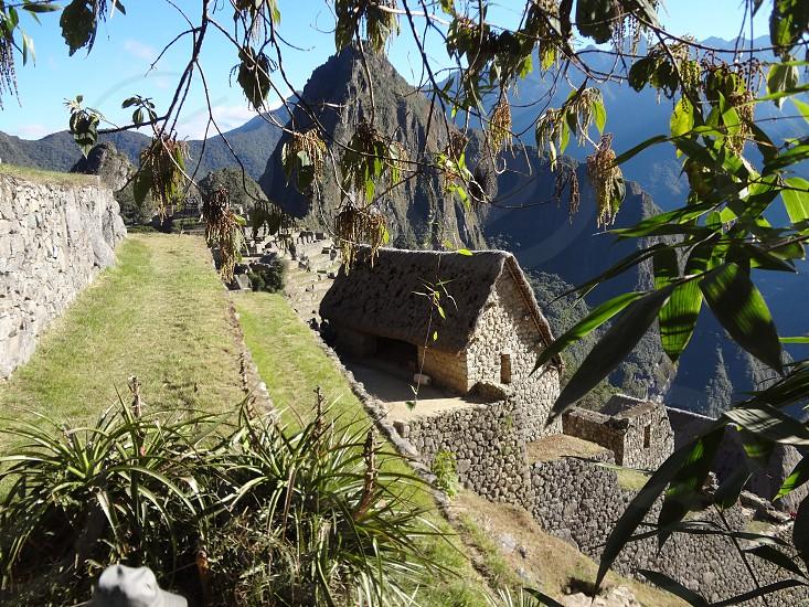 Quiet stone building - Machu Picchu Peru photo