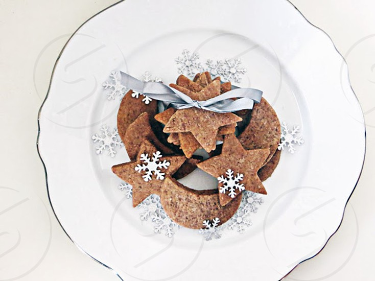 Chocolate sugar cookies. photo