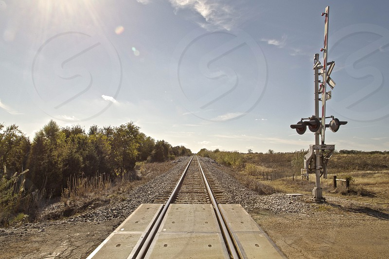 Adventure train tracks journey transportation tracks path College Station Texas country photo