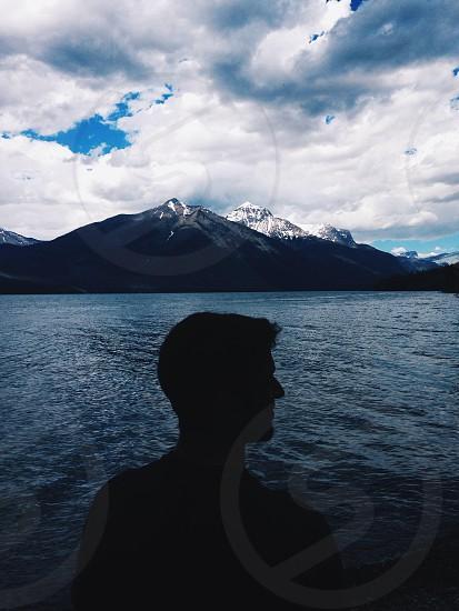 man by the lake photo