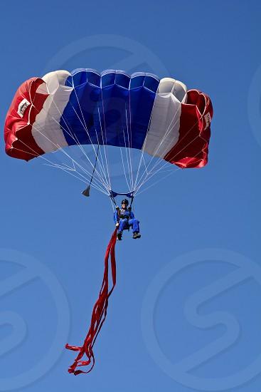 Parachutist With U.S. Flag Colors photo