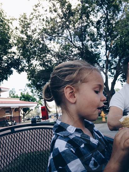 Enjoying An Ice Cream photo