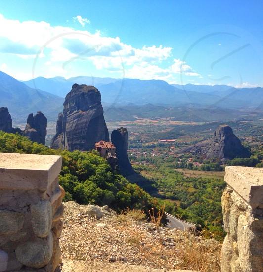 Open view scenery Meteora  photo