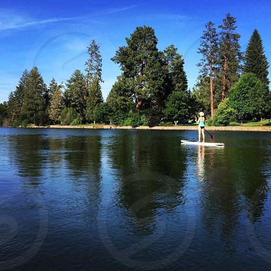 #mirrorpond #bend #oregon #reflection #sup #river #deschutesriver #nature #paddle #standuppaddle photo