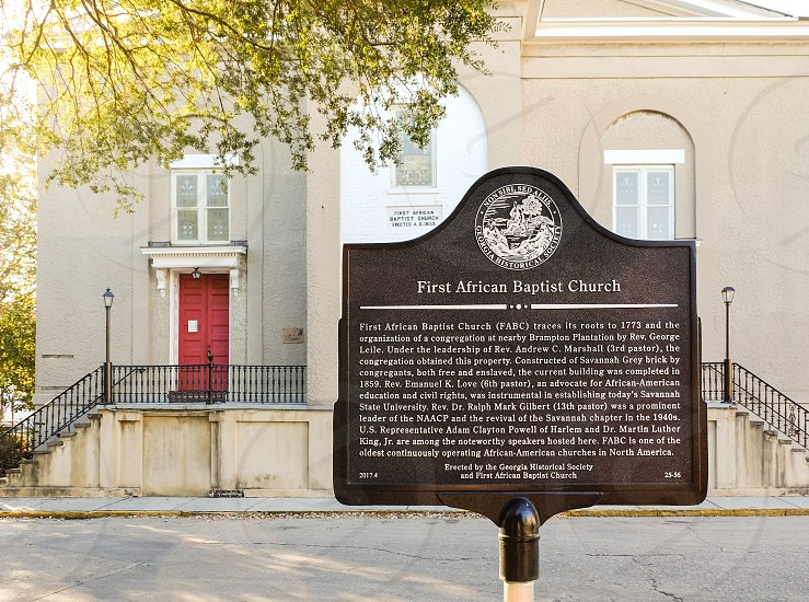 First African Baptist Church in Savannah Georgia.  photo