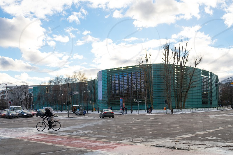 Nice contemporary Buildings which located in the south of Tiergartenstrasse mostly are embassy for example Mexico Saudi Arabian and Norwegian inside Tiergarten Neighborhood in Berlin Germany photo