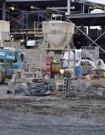 Construction Commercial Building Workmen photo