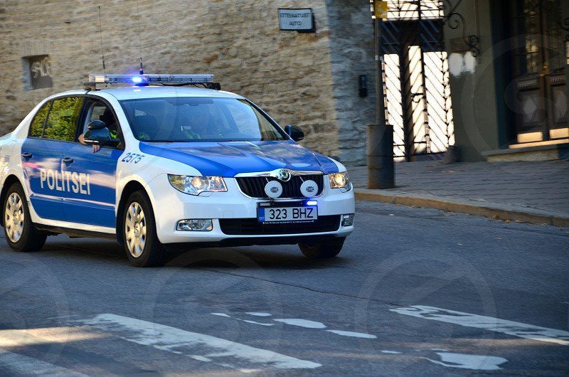 Police car Estonia photo