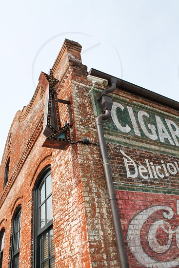 Old building downtown vintage vintage sign street outdoors building South Carolina  photo