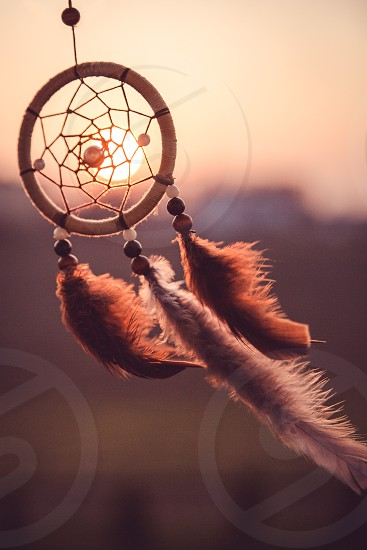 dreamcatcher beautiful decoration that drives away bad dreams photo