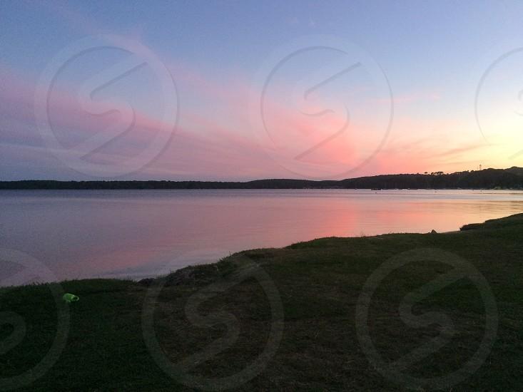 Sunset at Lacanau France photo