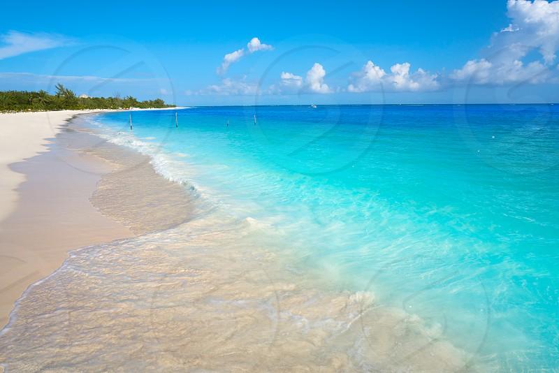 Riviera Maya Maroma Caribbean beach in Mayan Mexico photo