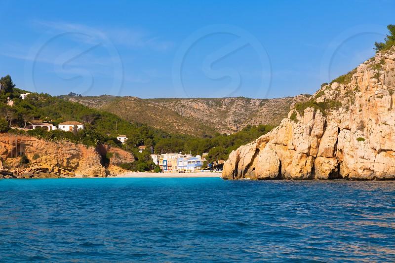 Javea Cala Granadella beach Xabia in Alicante Mediterranean spain photo