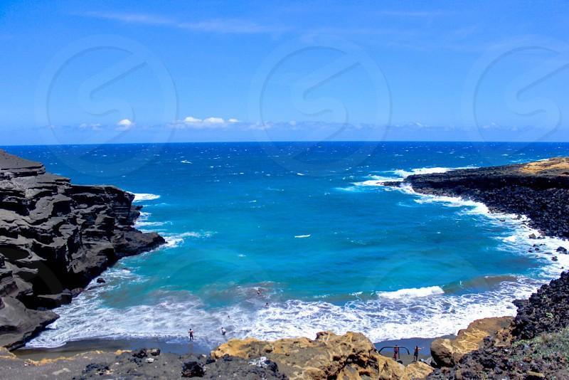 Green Sand Beach in Hawaii photo