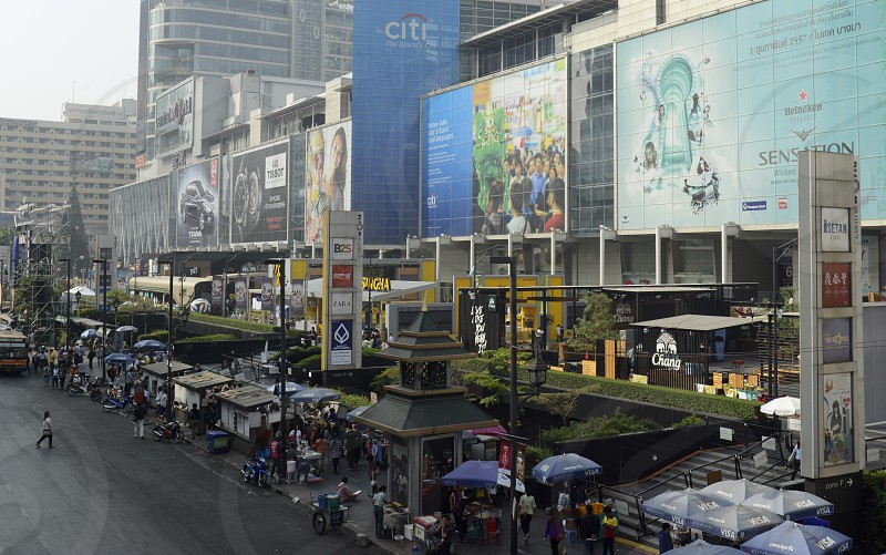 the city centre in Pratunam in the city of Bangkok in Thailand in Southeastasia. photo