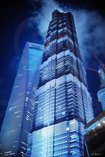 tall buildings Shanghai sky photo