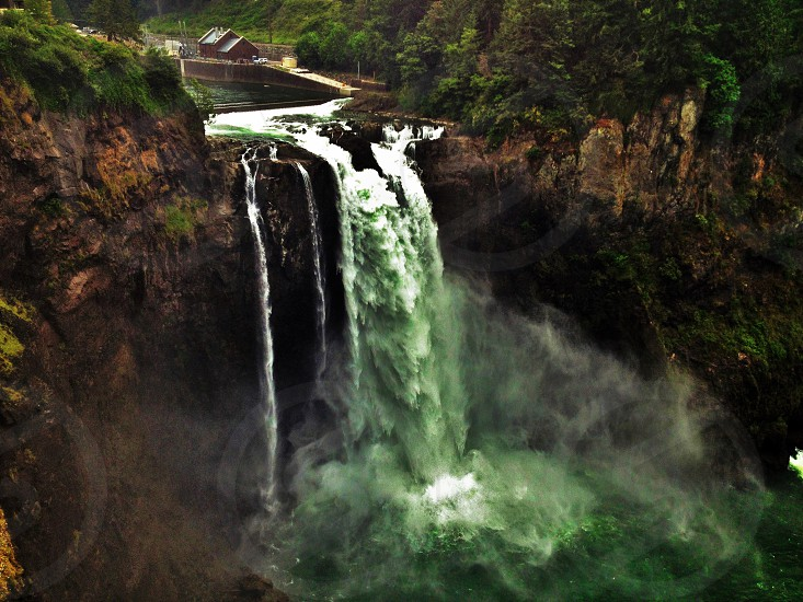 Hydro-electric waterfall photo