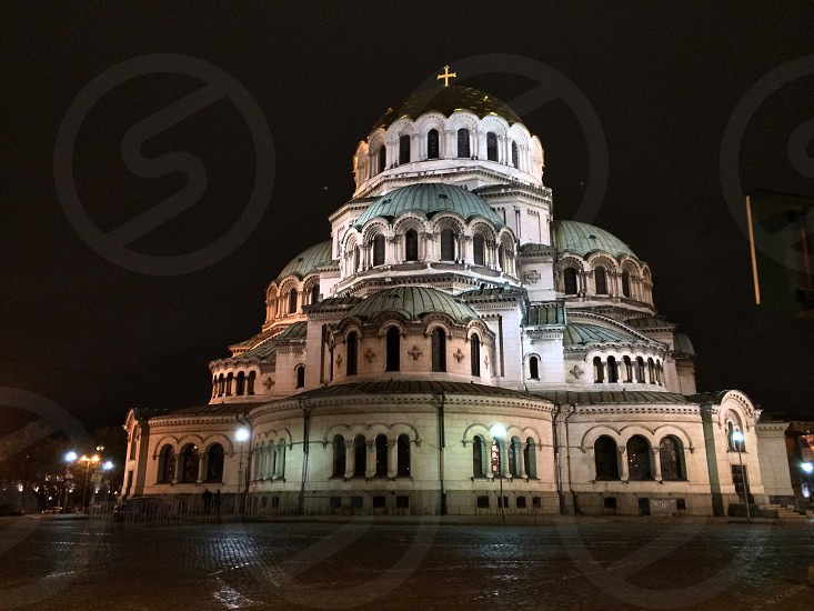 Sofia by night Alexander Nevsky Cathedral alexander nevsky church cathedral sofia софия architecture style bulgaria night tourism attractionEastern Europe photo