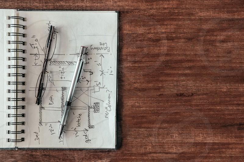 Architect's sketch book photo