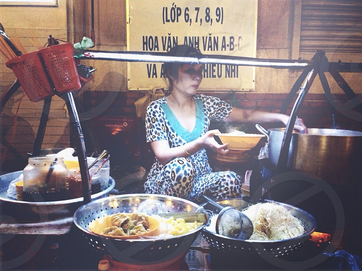 street food; Saigon city photo
