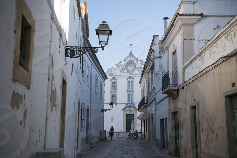 the Old Town of Olhao at the east Algarve in the south of Portugal in Europe. photo